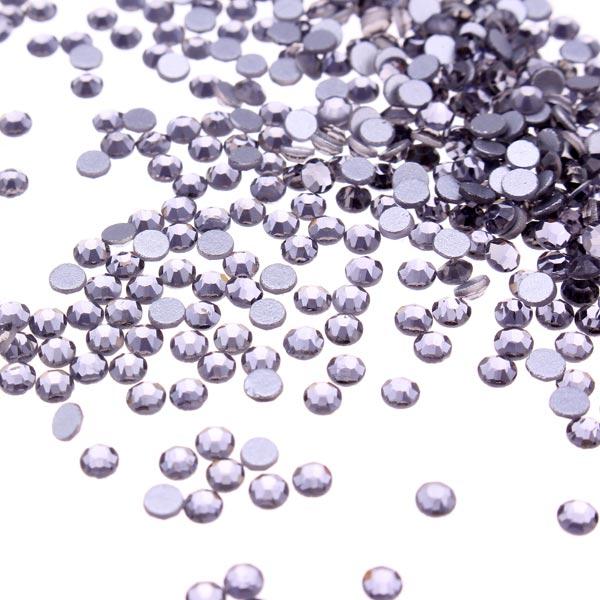 1440Pcs Transparent Black Crystal Rhinestones Nail Art Tips Decoration