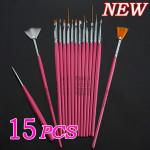 15 Nail Art Design Painting Tool Pen Polish Brush Set Nail Art