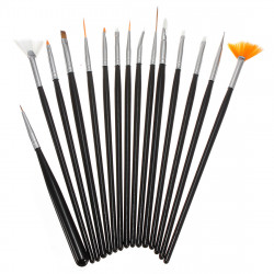 15PCS Nail art Design Gel pen Painting Tips Dotting Brush Set