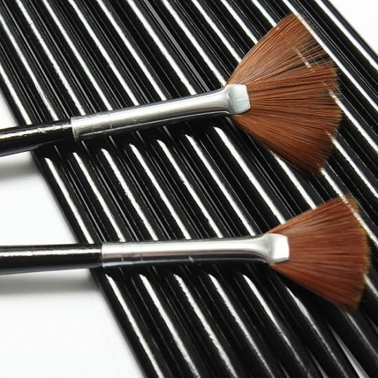 15Pcs Black Nail Art Acrylic UV Gel Design Brush Set 2021