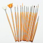 15Pcs Nail Art Acrylic UV Gel Design Brush Set Nail Art