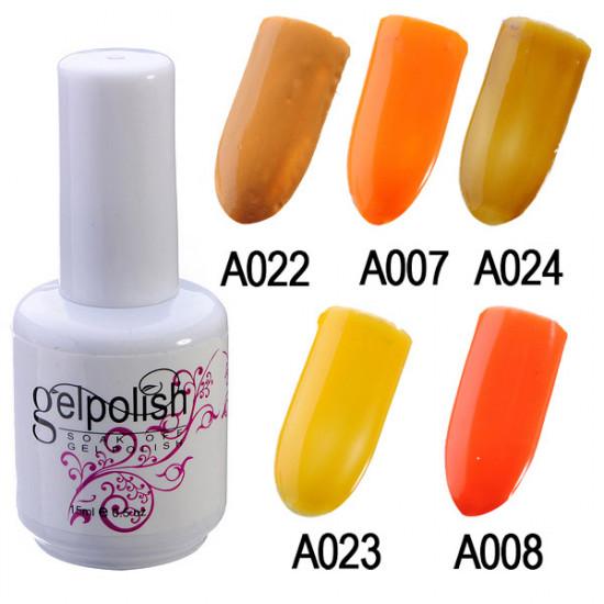 15ml Colorful Nail Art Soak off UV Gel Polish 2021