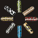 16 PCS Leopard Zebra Nail Art Polish Metal Full Stickers Nail Art