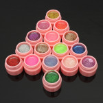 16 Pots Glitter Powder UV Builder Gel Nail Art Decoration Set Nail Art