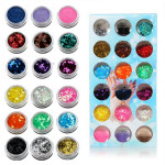 18 Colors Nail Art Star Fragment Hybrid Shiny Glitter Powder Set Nail Art