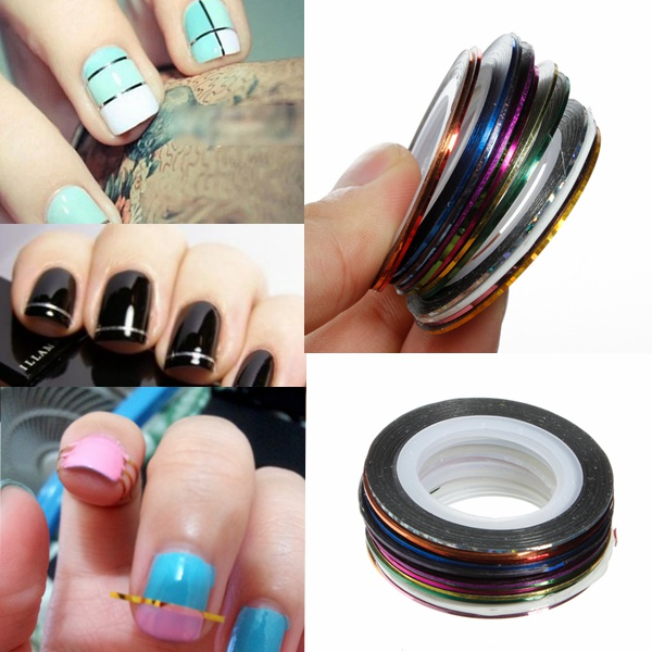 18 Colors Rolls Nail Art Striping Tape Line Sticker DIY Decoration Nail Art