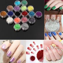18 Colors Shiny Glitter Powder Dust Nail Art Manicure DIY Decoration