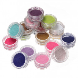 18 X 3D Flocking Powder Velvet Nail Art Polish Decoration