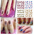 1 Sheet Nail Art Feather Leopard Nail Decals Stickers