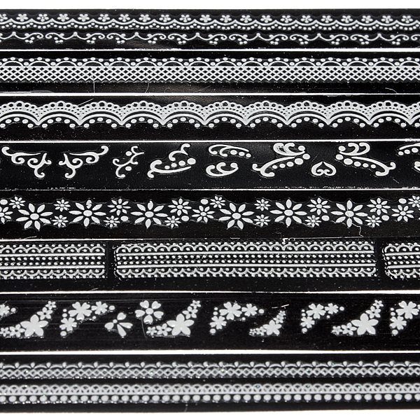 1x Sheet 3D French Style White Lace Nail Art Design Sticker Decals