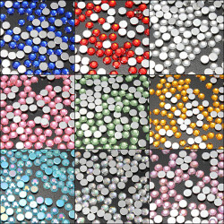200pcs Crystal Round Flat Back Rhinestones Gems Nail Decorations