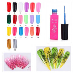 20 Colors Nail Art LED UV Gel Polish Liner 12ML