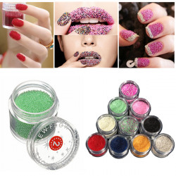 20ML Metallic Caviar Beads Nail Art Tips Decoration