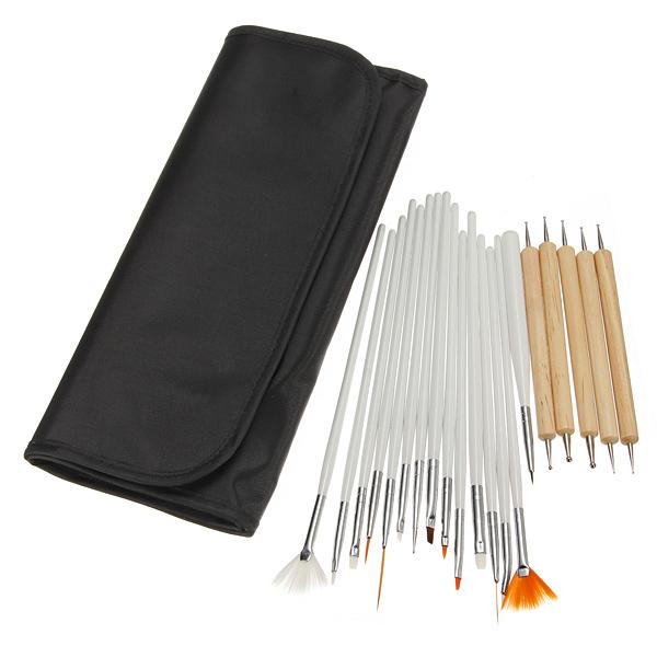 20pcs Nail Art Brush Painting Polish Dotting Pen Set Nail Art