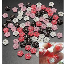 20pcs Nail Art Rose with Rhinestone Tips Sticker Decoration