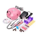 220-240V Pink Electric Nail Drill Machine Set Manicure Pedicure Tool Nail Art