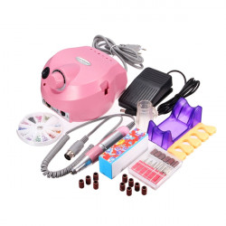 220-240V Pink Electric Nail Drill Machine Set Manicure Pedicure Tool