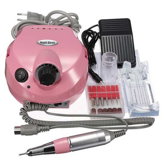 220V-250V Electric Nail Drill Machine Set Manicure Pedicure Tool 2021