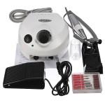 220V-250V White Acrylic Electric Nail Drill Machine Set Nail Art