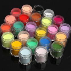 24 Colors Acrylic Manicure Nail Art Powder Dust Decoration
