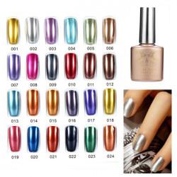 24 Colors Soak off Metal Color UV Gel Nail Polish