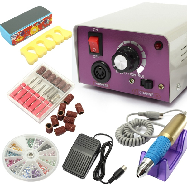 25000 RPM Electric Nail Art Drill Machine Set Manicure Tool Kit