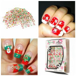 25 Sheets Christmas Design Nail Art Sticker Decals Decoration