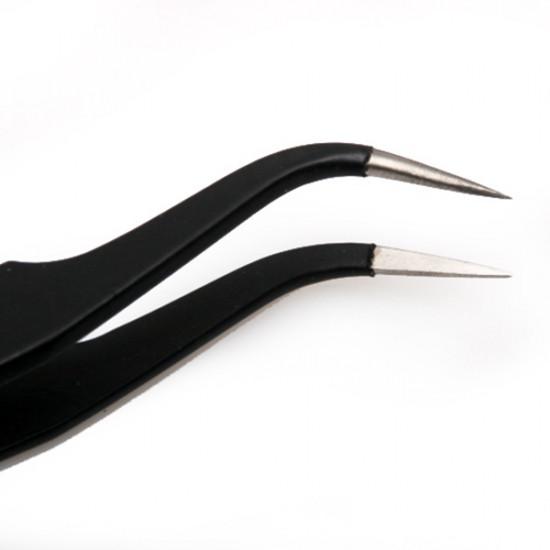 2Pcs Eyelash Curler Tweezer Nail Art Rhinestone Nipper Set 2021