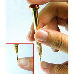 2x Nail Art Piercing Hand Drill Tool Tips Dangle Pierce