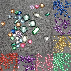 3000Pcs Multicolor Multi-shape Rhinestone Glitter Nail Art Decoration