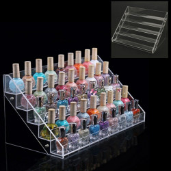 30.7 CM 5 Tiers Acrylic Nail Polish Display Stand Cosmetic Organizer