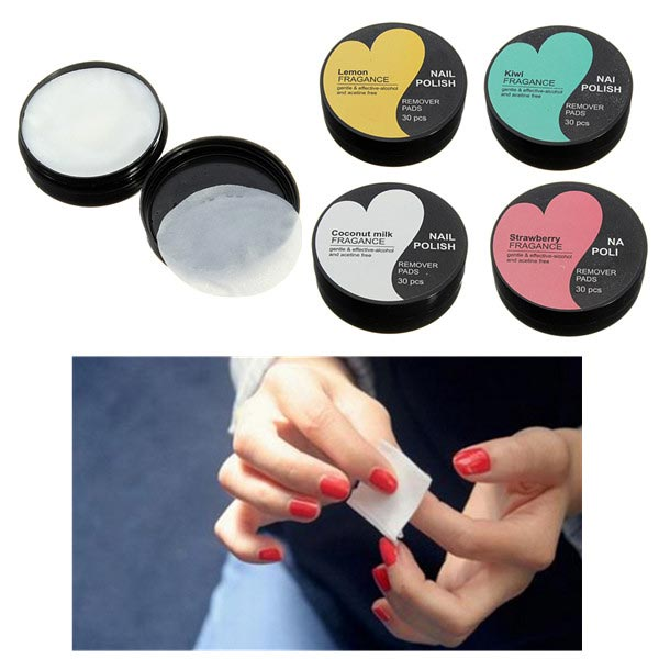 30PCS Nail Art Polish Remover Wipes Cotton Pad Paper Towel Nail Art
