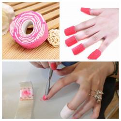 30PCS UV Gel Bandage Cotton Nail Polish Remover Wrap