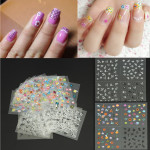 30 Sheet DIY Colorful Nail Art 3D Stickers Tips Flower Decoration Decals