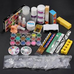 36 Acrylic Powder Liquid Brush Primer File UV Glue Nail Set Kits