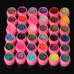 36 Colours Glitter Acrylic UV Gel Builder Polish Set