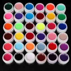 36 Pure Colors 5ml UV Gel Builder Nail Art DIY Decoration Manicure
