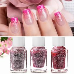 3 Bottles Bgirl Gradient Color Glitter Nail Polish 6ml