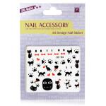 3D Black Cat Nail Decal Sticker Nail Art Decoration Nail Art