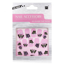 3D Butterfly Rhinestone Nail Decal Sticker Nail Art Decoration