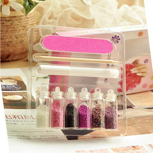 3D Caviar Finger Design Decoration Nail Art Set Nail Art