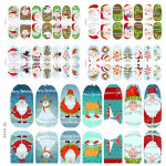 3D Christmas Tree Santa Claus Luminous Nail Full Stickers Nail Art