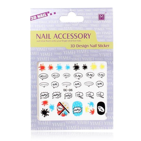 3D Design Nail Sticker Nail Art Decoration Nail Art