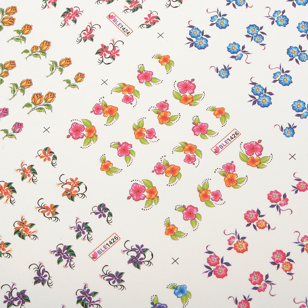 3D Flower Cartoon Pattern Nail Toes Sticker Nail Art Decoration Nail Art