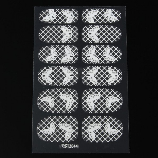 3D Flower Lace DIY Decoration Nail Art Foils Stickers Tips Wraps Decal 2021