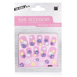 3D Flower Rhinestone Nail Decal Sticker Nail Art Decoration