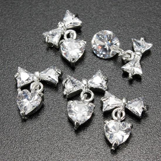 3D Glitter Acrylic Crystals Rhinestones Metallic Nail Art Stickers 2021