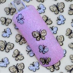 3D Glitter Butterfly Nail Art Sticker Decals Nail Tips Decoration