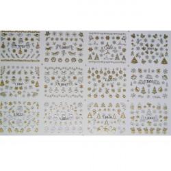 3D Golden Christmas Style Nail Art Sticker