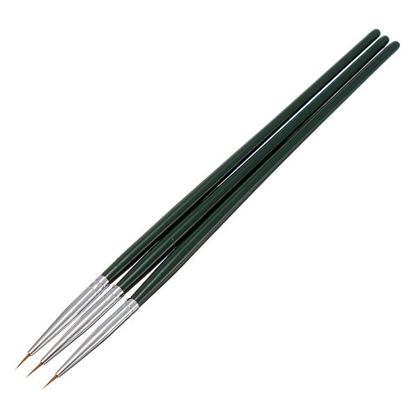 3PCS Tiny Liner Acrylic Nail Art Tips Design Pen Painting Brush Set Nail Art